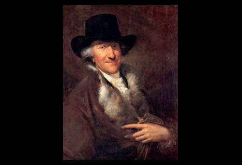 Wilhelm Friedemann Bach, by Friedrich Georg Weitsch